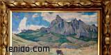 G.Galkin- Krajobraz górski - olej na kartonie-25x35-1960 7857