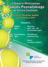 II Otwarte Mistrzostwa Powiatu Poznańskiego w Tenisie poster