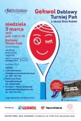 Gehwol Deblowy Turniej Pań z okazji Dnia Kobiet poster